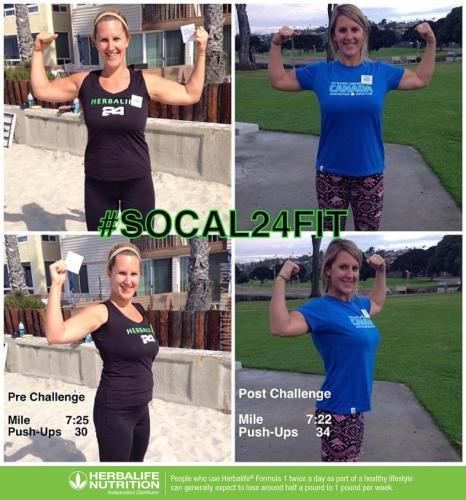Tara Tierney Before and After Herbalife 24Fit Challenge