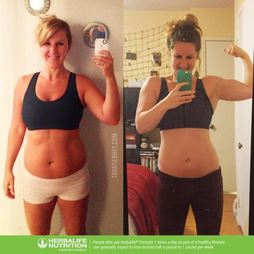Tara Tierney Before and After Herbalife