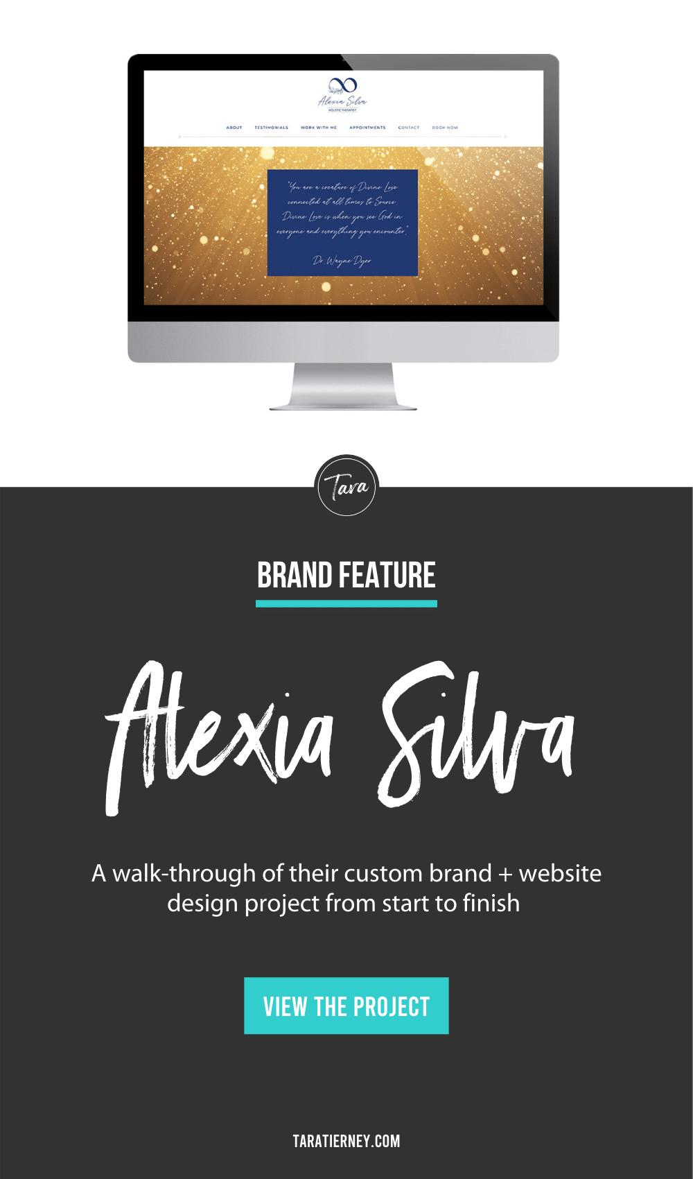 Alexia Silva Branding + Website Design Project