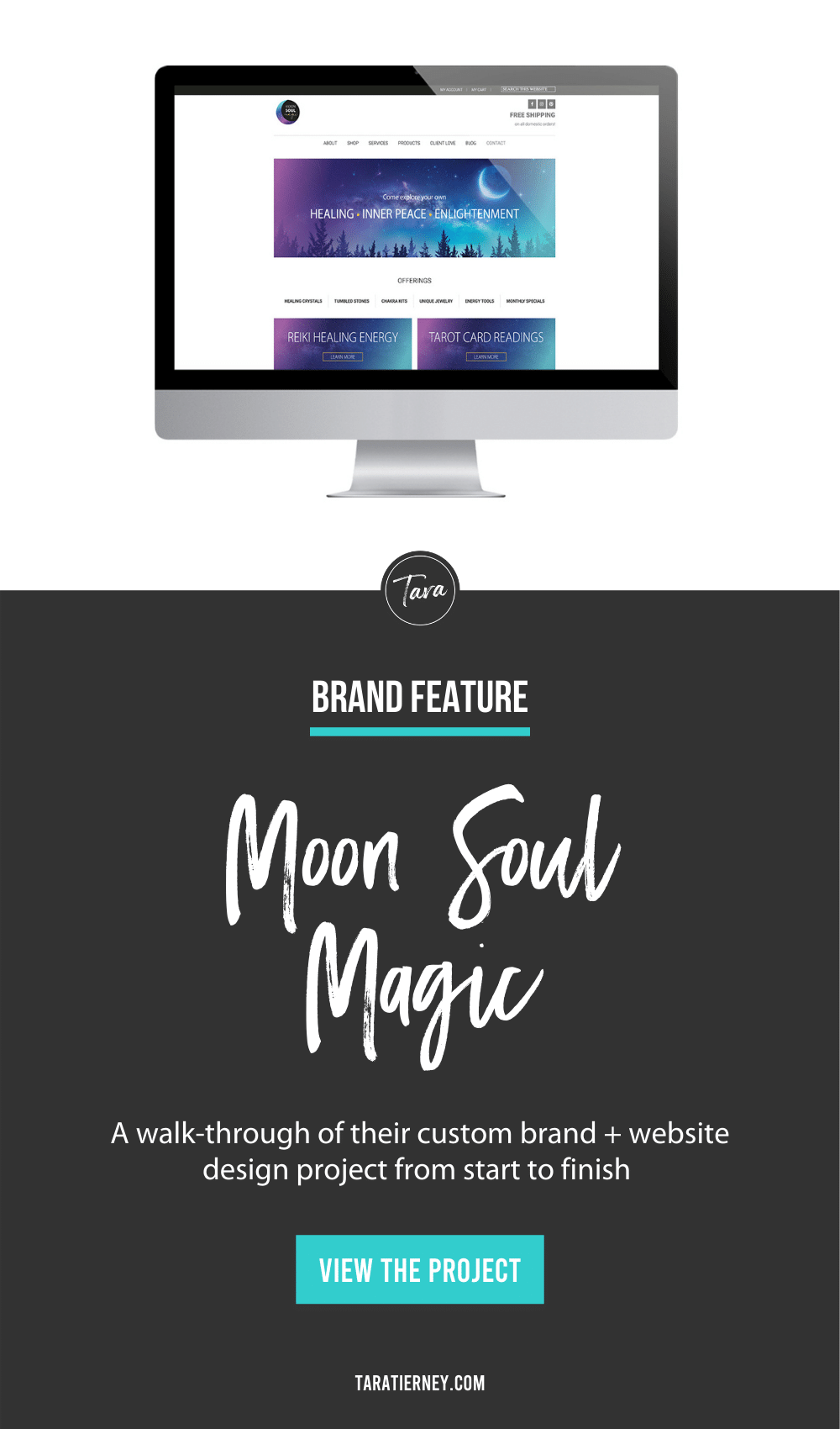 Moon Soul Magic Brand + Website Design Project