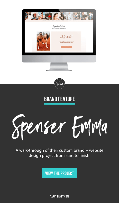 Spenser Emma - Brand + Website Feature