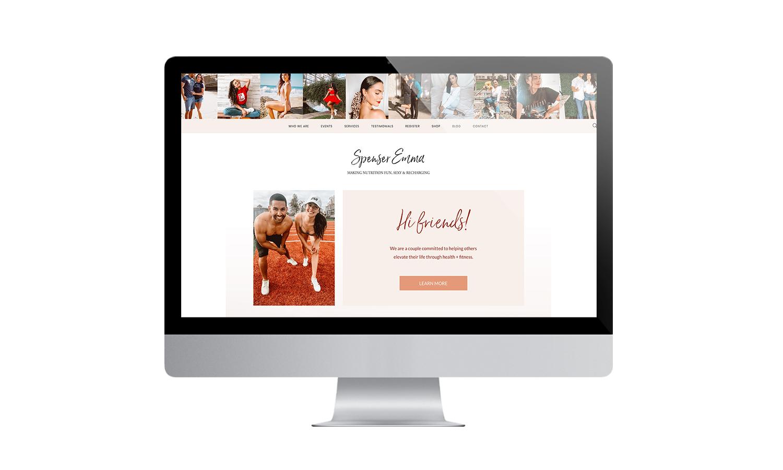 Spenser Emma Website Desktop Mockup