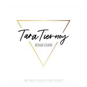 Modern Gold Triangle Logo