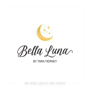 Golden Moon + Stars Logo