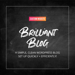 Brilliant Blog - Custom Website Design Service