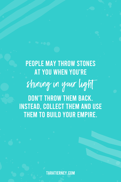People may throw stones at you - PIN