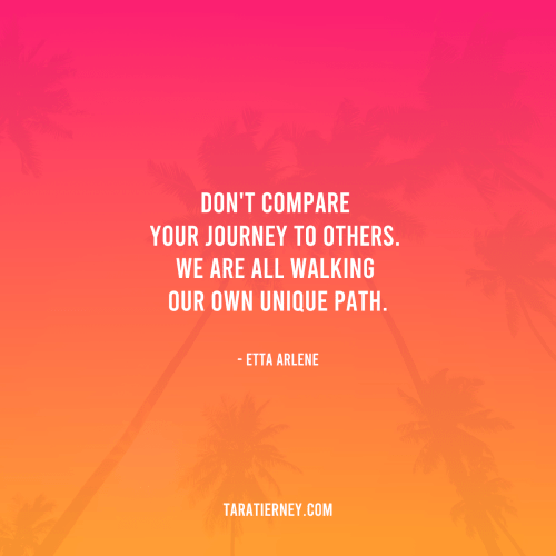 Don't compare your journey to others