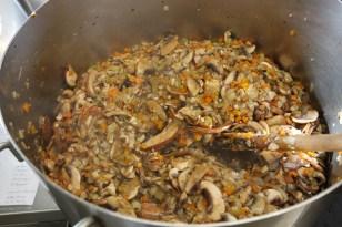 Sauté the mushrooms