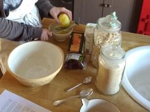 Zesting lemon for muffins