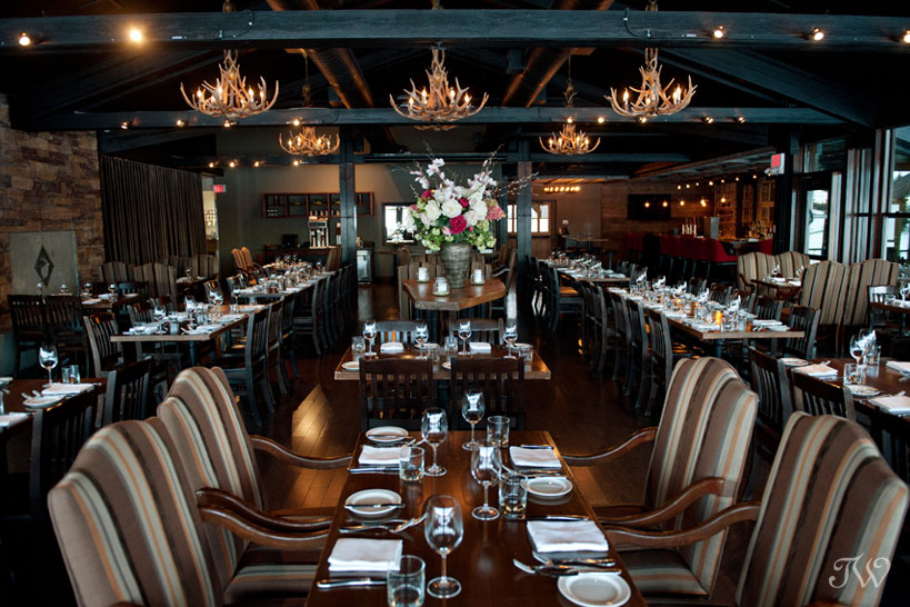 Dining room for Lake House Calgary weddings captured by Tara Whittaker Photography