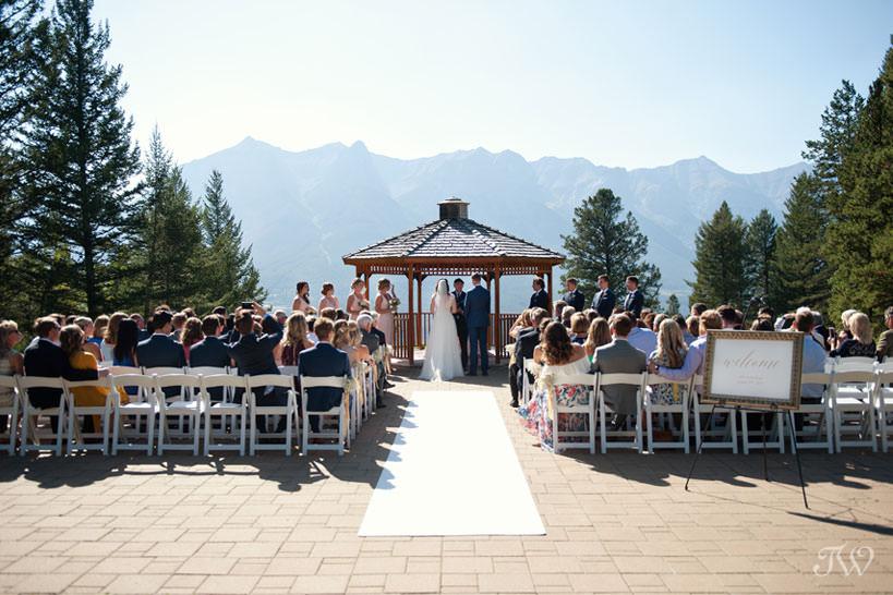 Gazebo at Silvertip mountain wedding locations captured by Tara Whittaker Photography