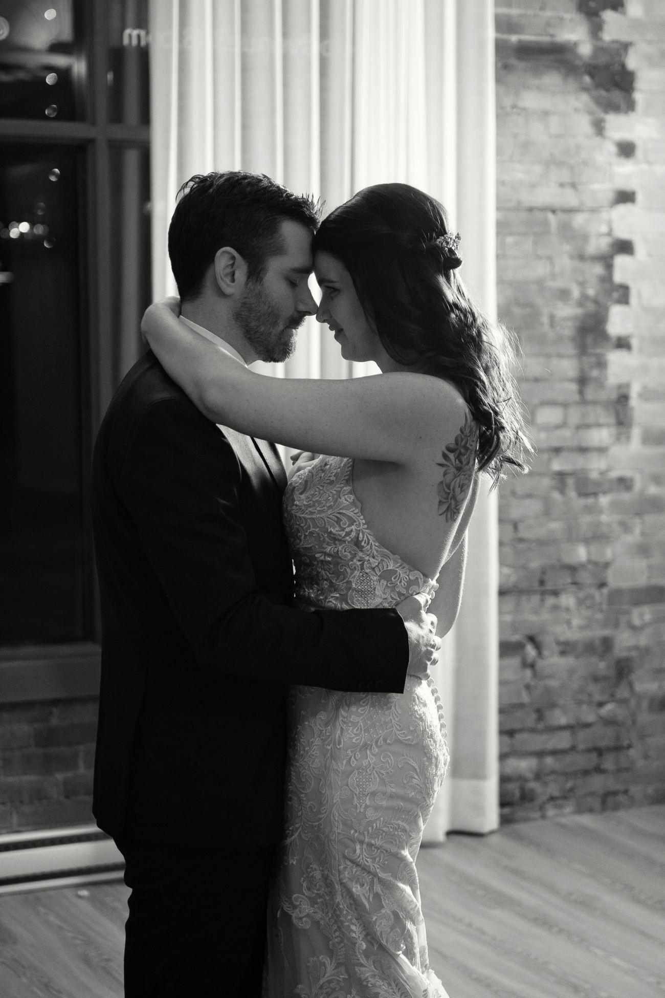 First dance at Venue 308 captured by Calgary wedding photographer Tara Whittaker