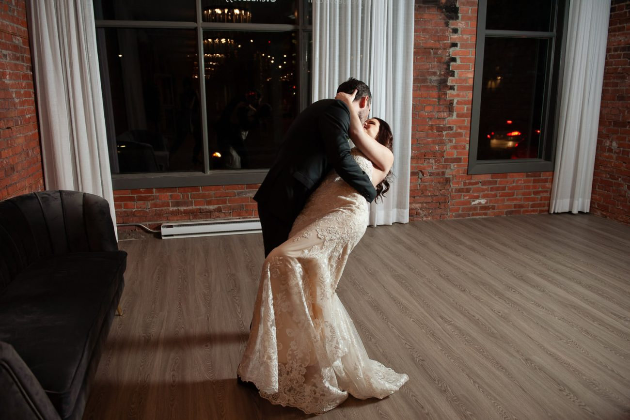 bride and groom dancing at Venue 308 captured by Tara Whittaker Photography