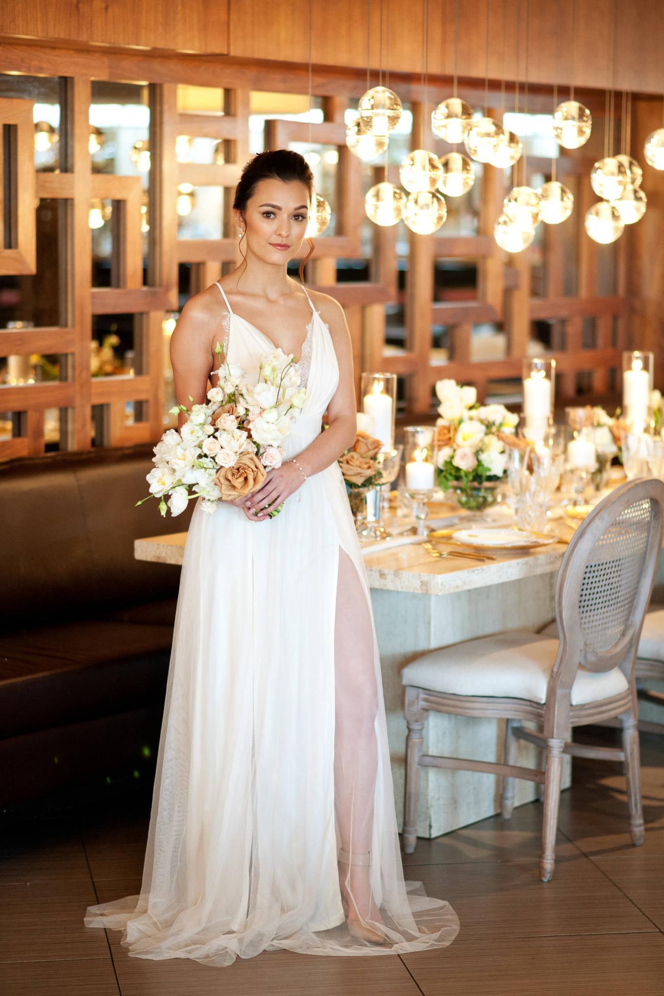 bride at her Alloy Restaurant wedding captured by Tara Whittaker Photography