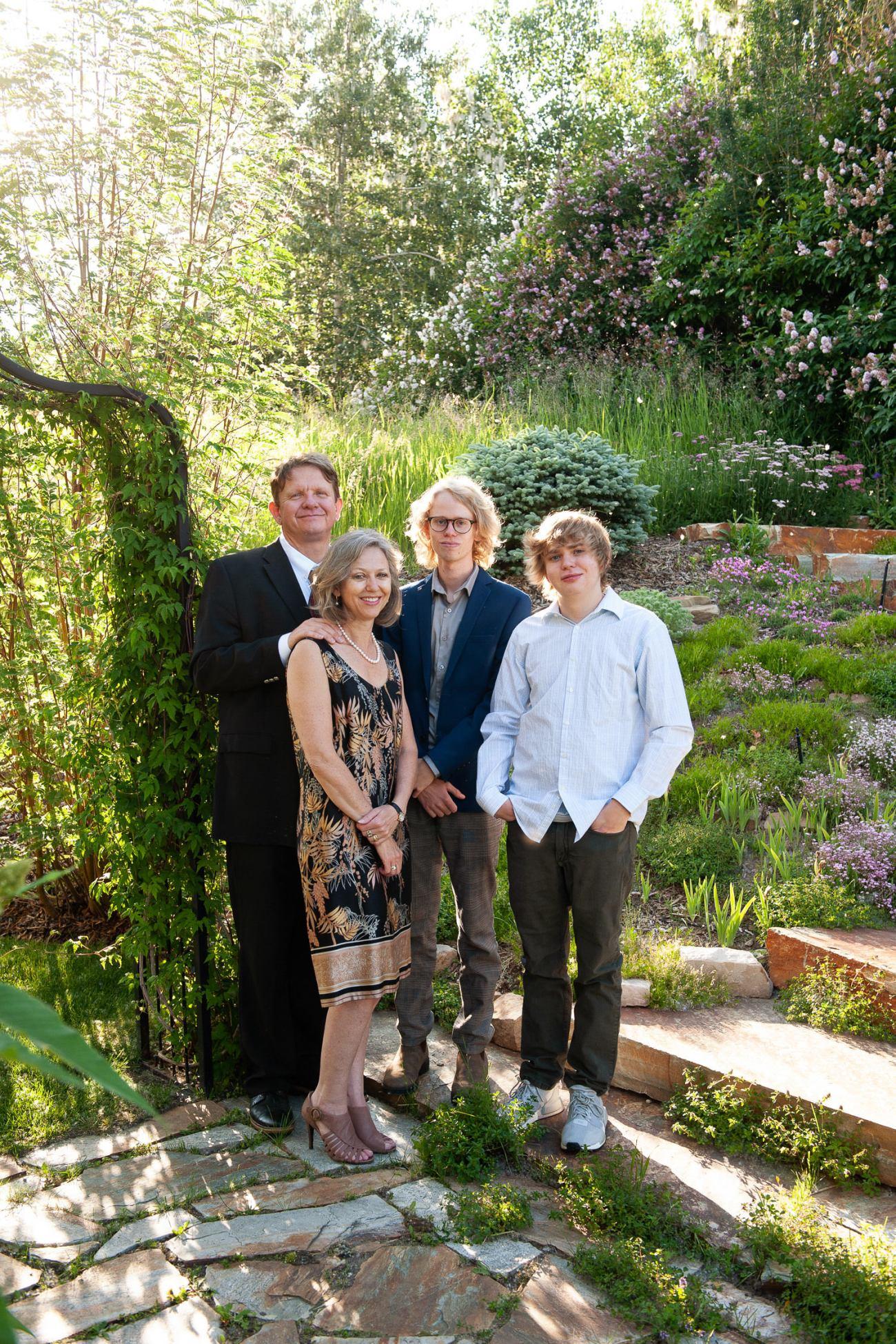 Calgary grad celebrates with his family captured by Calgary photographer Tara Whittaker