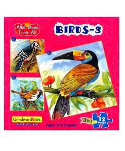 Birds 3 (Allah Made Them All - Box of 3 Puzzles)