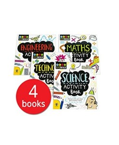 STEM Activity Book Collection - 4 Books Paperback