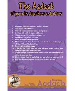 The Aadaab of parents and teachers