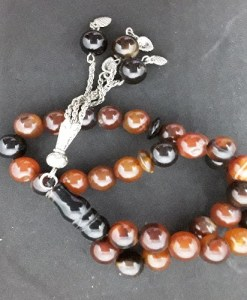 Authentic Agate (Precious Stone) Prayer Beads/Tasbih in Counts of 33