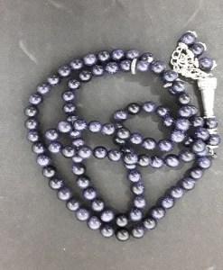 Authentic Sun-Stone (Precious Stone) Prayer Beads/Tasbih in Counts of 99