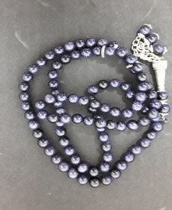 Authentic Sun-Stone (Precious Stone) Prayer Beads/Tasbih in Counts of 99
