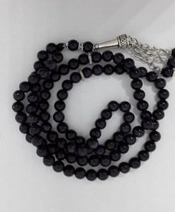 Authentic Black Onyx (Precious Stone) Prayer Beads/Tasbih in Counts of 99