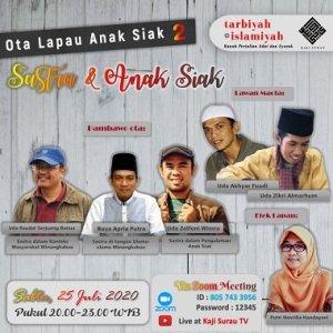 Sastra Anak Siak Sebuah TOR Ota Lapau Anak Siak Online