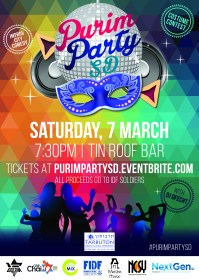 tarbuton new adult Purim Party