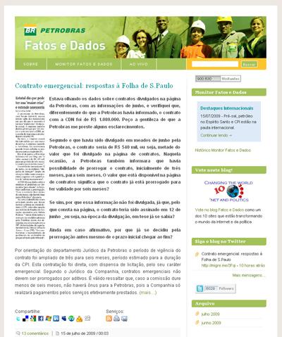 Petrobras – Fatos e Dados