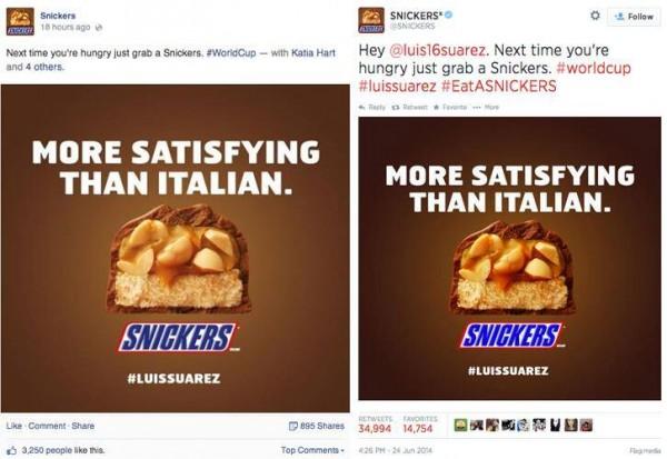 A comparação de engajamento do mesmo conteúdo no Facebook e Twitter circulou no mercado de mídias sociais.