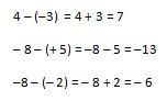 Resta de operaciones de números