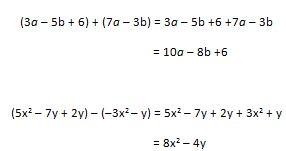Suma y resta de monomios y polinomios