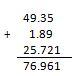 suma con decimales