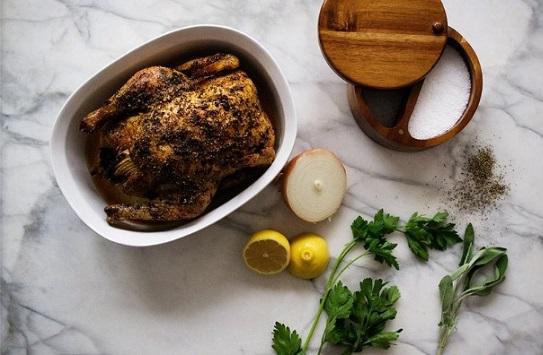 طريقة عمل دجاج متبل مشوي بالفرن