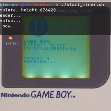 Nintendo Game Boy Modded to Mine Bitcoin