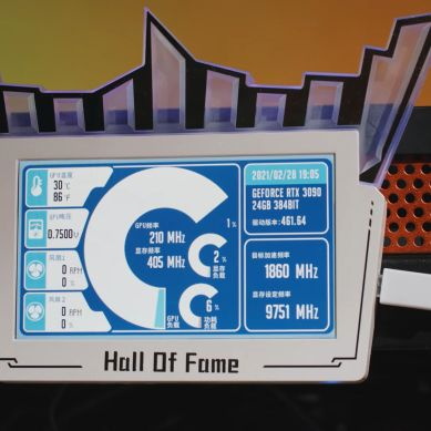 GALAX GeForce RTX 3090 Hall Of Fame (HOF) Edition GPU Benched with Custom 1000 W vBIOS