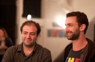Tarek et Ripo, peintre américain