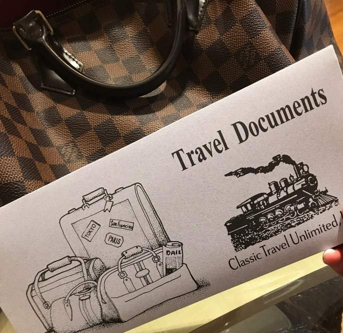 Travel documents in hand...DR I'm ready!