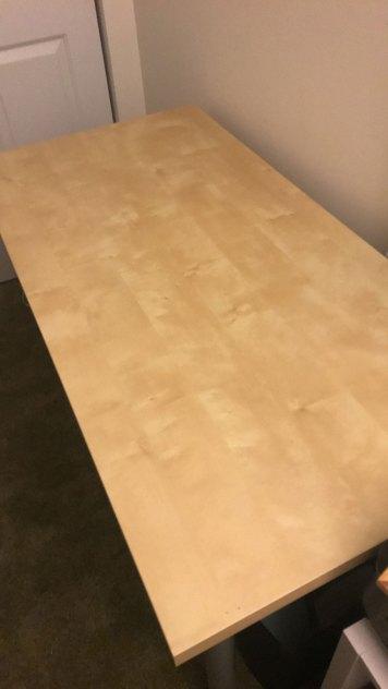 IKEA LINNMON Table (BEFORE)