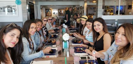 Tasting at Steve's Steakhouse & Seafood (photo courtesy of Catalina Food Tours - Facebook)