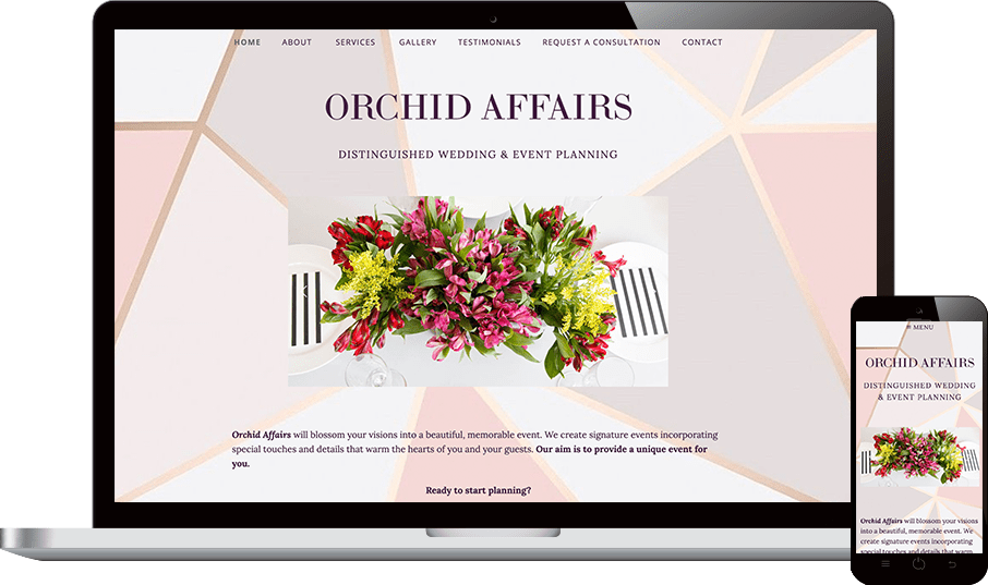 Orchid Affairs Web Design Project