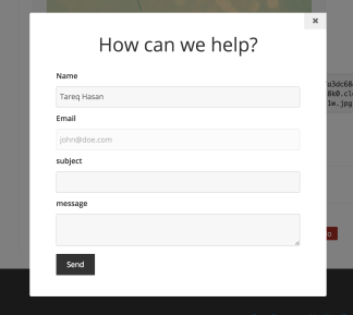 The modal contact form