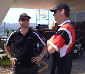 Steve Glenney and Jason White at scrutineering today.