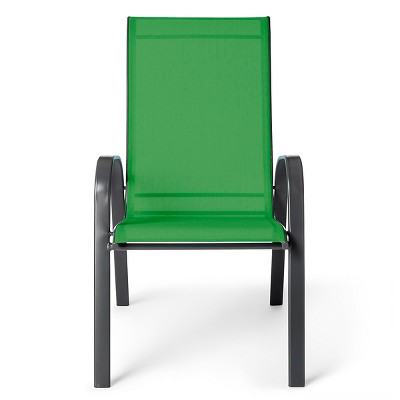 patio sling stacking chair green