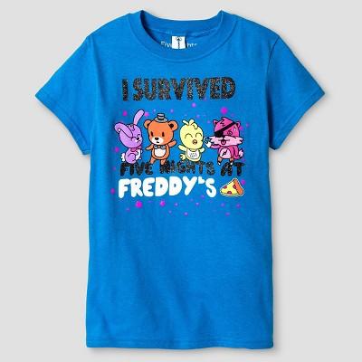 Girls Friday Night At Freddys Short Sleeve Tee