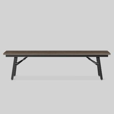 mantega faux wood folding patio bench project 62