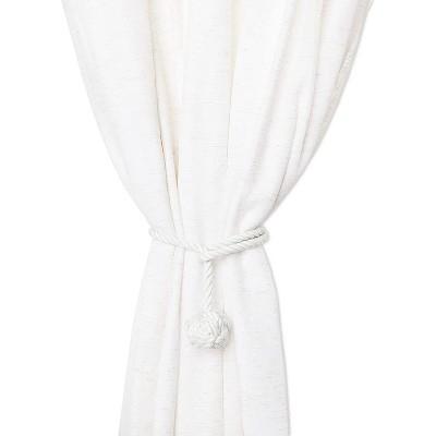 okuna outpost 2 pack white cotton window curtain tiebacks tie back 20 holdbacks rope for drapes