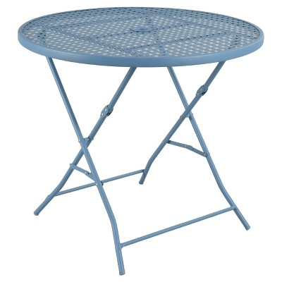 metal punch folding patio bistro table