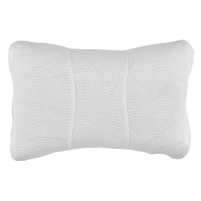 one size cool luxury contour pillow protector with zipper closure tempur pedic