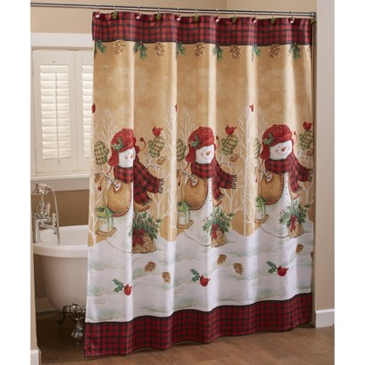 christmas shower curtain target